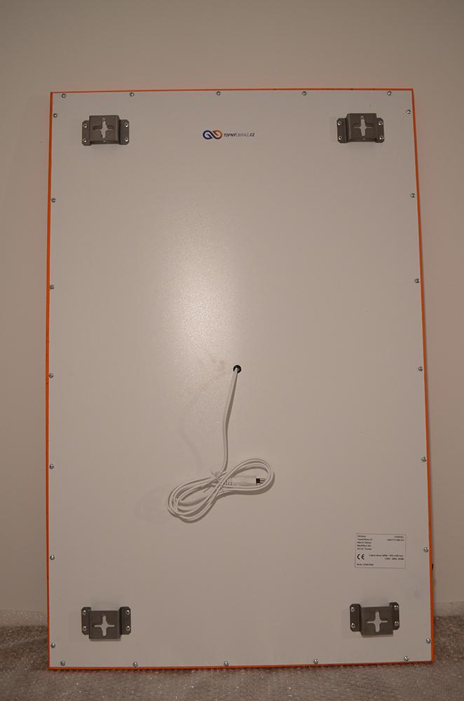 Zadní strana infrapanelu o výkonu 540W