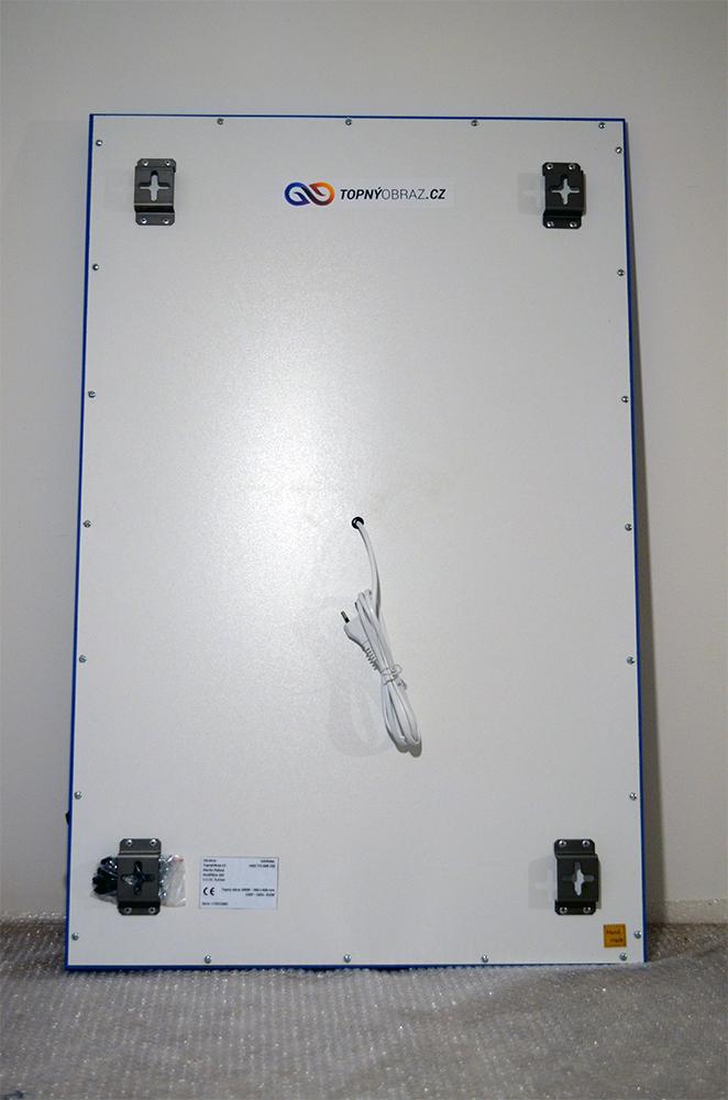 540W - Infrapanel Umělecká malba - zadní strana