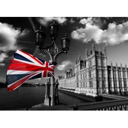 infrapanel - Union Jack a černobílý Londýn