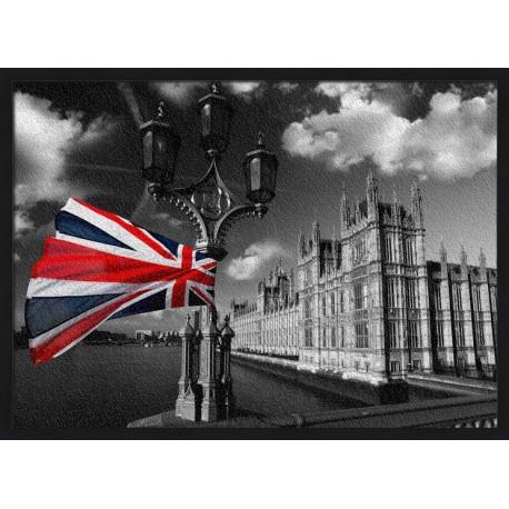 Topný obraz - Union Jack a černobílý Londýn