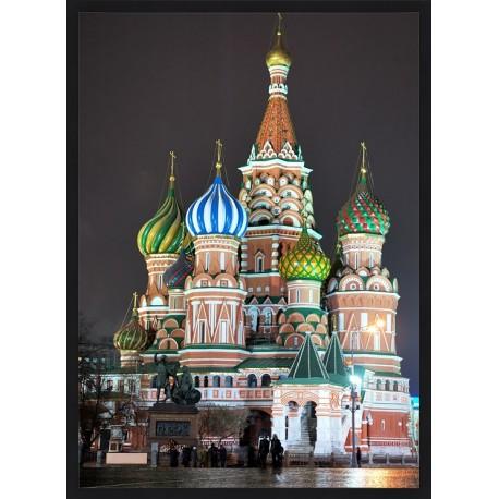 Topný obraz - Rusko - černý rám