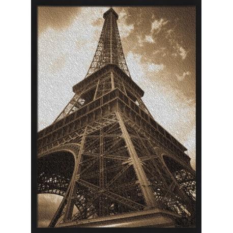Topný obraz - Retro fotografie Eiffelovy věže
