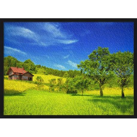 Topný obraz - Dům na louce