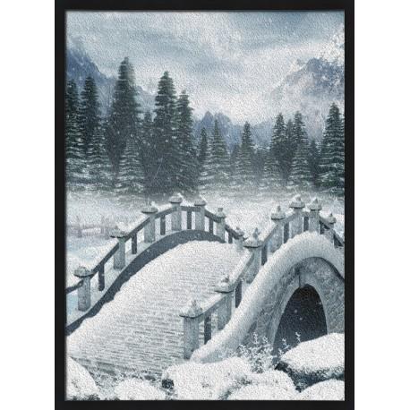 Topný obraz - Zasněžený most