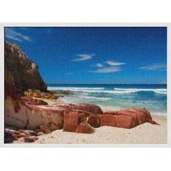 Topný obraz - Skalnatá pláž
