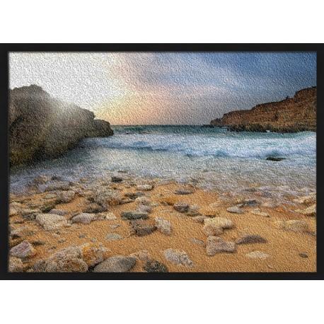 Topný obraz - Oblázková pláž