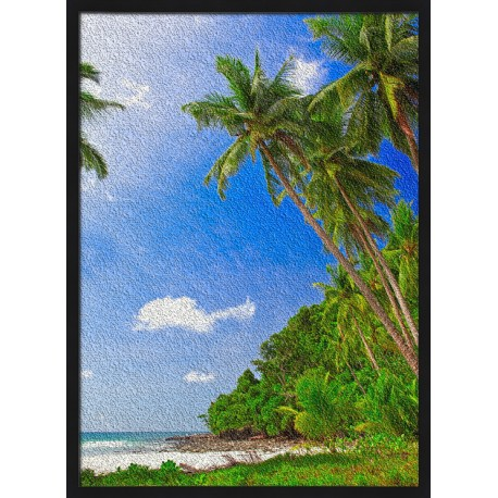 Topný obraz - Pláž na okraji džungle