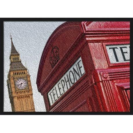 Topný obraz - London - černý rám