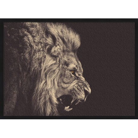 Topný obraz - Černobílý lev