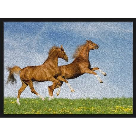 Topný obraz - Koně ve skoku