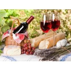 Topný obraz - Snídaně na vinici