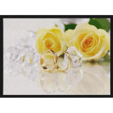Topný obraz - Svatební prstýnky