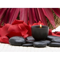 infrapanel - Lávové kameny a svíčka