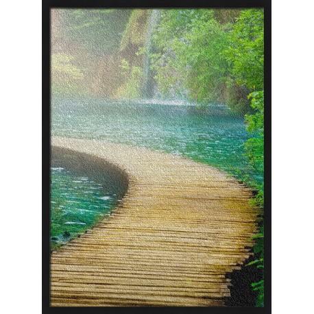 Topný obraz - Lávka přes džungli