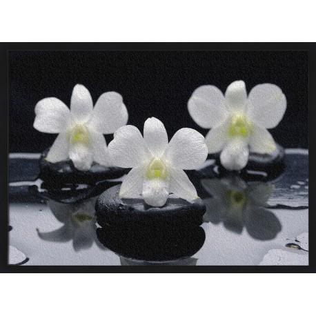 Topný obraz - Lávové kameny a květy