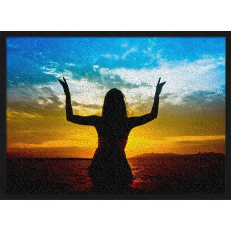 Topný obraz - Jóga v moři