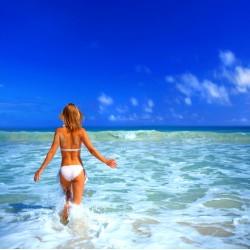 infrapanel - Dívka v moři