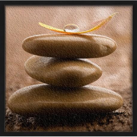 Topný obraz - Poskládané kameny
