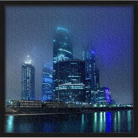 Topný obraz - Mrakodrapy v noci