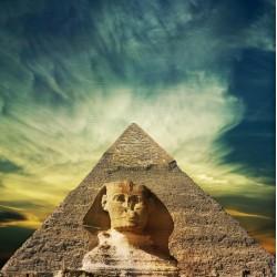infrapanel - Sfinga a pyramida