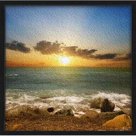 Topný obraz - Rozbřesk na pláži
