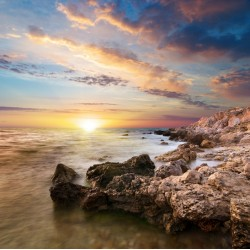 infrapanel - Západ slunce na útesu
