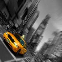 infrapanel - Taxi černobílé