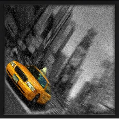 Topný obraz - Taxi černobílé