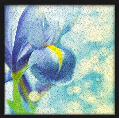 Topný obraz - Modrá květina