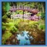Topný obraz - Most nad řekou