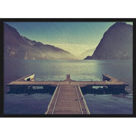 Topný obraz - Molo na jezeře