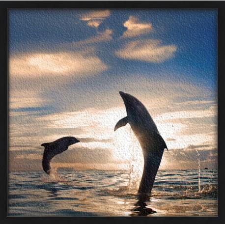 Topný obraz - Skákající delfíni