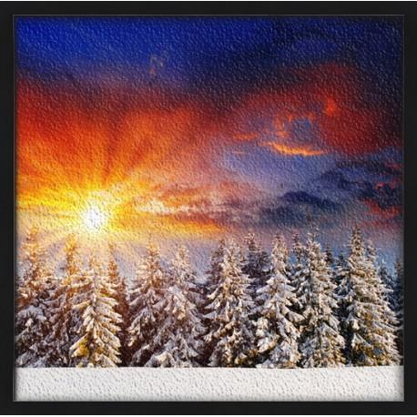Topný obraz - Zasněžená krajina