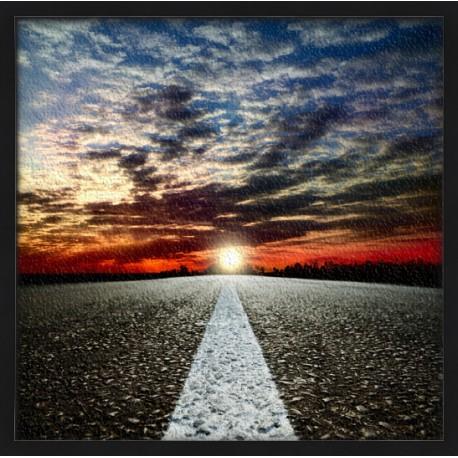 Topný obraz - Rozbřesk na silnici