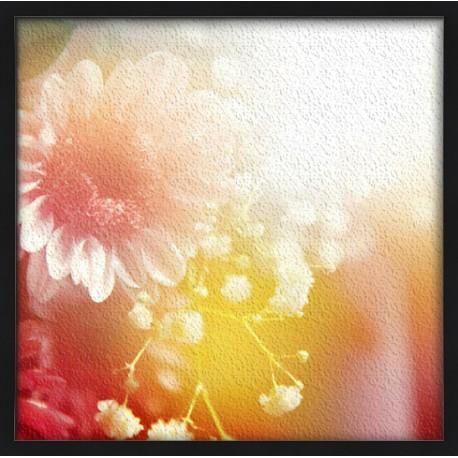Topný obraz - Sluneční paprsky a květiny