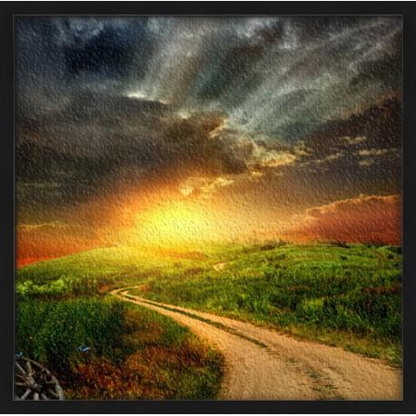 Topný obraz - Západ slunce v Irsku