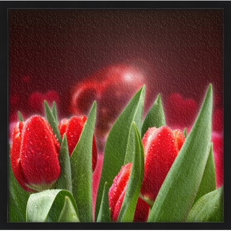 Topný obraz - Valentýnské růže