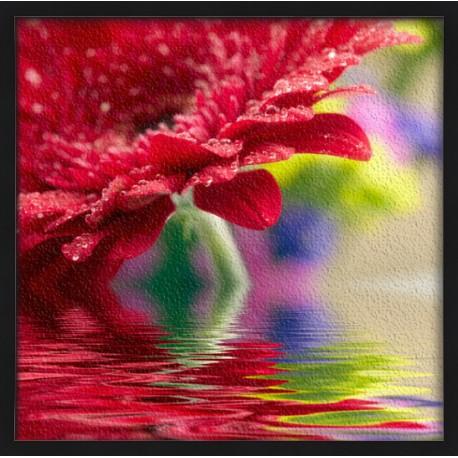 Topný obraz - Květina na hladině