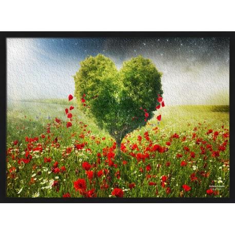 Topný obraz - Srdce v poli