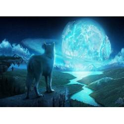 infrapanel - Vlk a měsíc