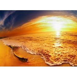 infrapanel - Západ slunce na pláži