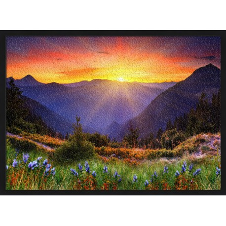 Topný obraz - Východ slunce
