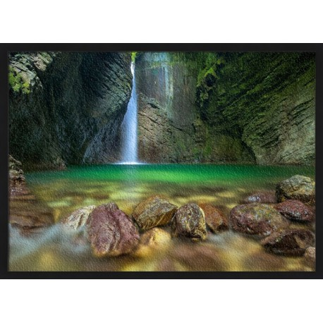 Topný obraz - Jeskynní vodopád